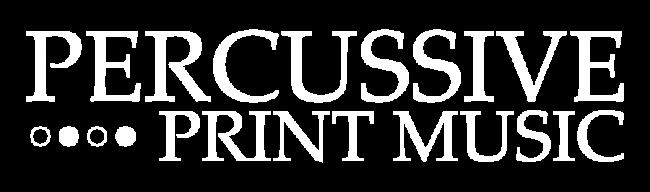 Logo Percussive Print Music